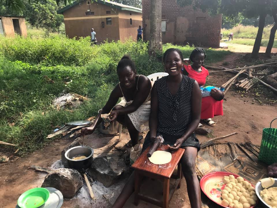 Nestar's sister and niece making the best chapati I've ever tasted.